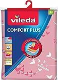 Vileda Comfort Plus Bügeltischbezug, rosa, für maximalen Bügelkomfort durch 3-Lagen-System