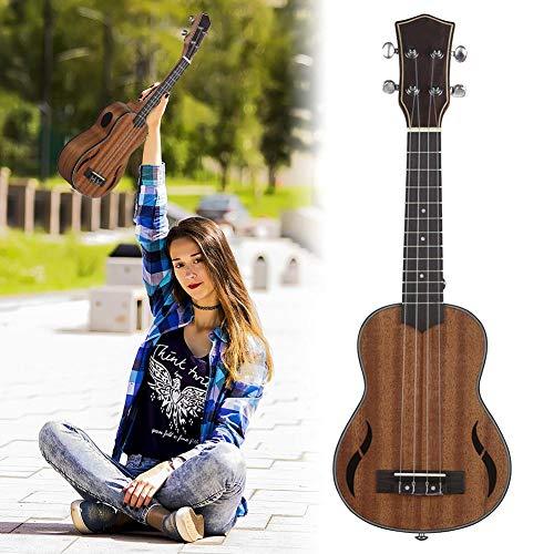 bulrusely 21 Pollici Ukulele Concerto 4 Corde Mogano Ukulele Hawaiano Piccola Chitarra Playing Instrument Kind