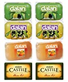 DALAN Castille & Glycerine 8 pc Soap Combo of Olive, Daphne & Almond Oil for Rs 430. Imported from Turkey