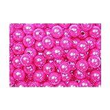 Deco–cuentas de diámetro 10mm con euro-holes 2mm 115pcs (varios colores seleccionables), plástico, Pink.