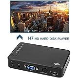 Full HD 1080P 3 Outputs HDMI VGA AV USB Card Mini Multimedia Player H7