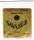 Savarez Saiten für Klassikgitarre Satz Traditional Concert 520P3 Standard Tension Nylon rot, Basssaiten versilbert