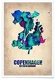 JUNIQE® Poster 40x60cm Stadtpläne Kopenhagen - Design