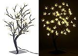 Lunartec Lichterbaum: LED-Baum mit 64 beleuchteten Blüten, 45 cm, IP44, für innen & außen (LED Lichterbaum)
