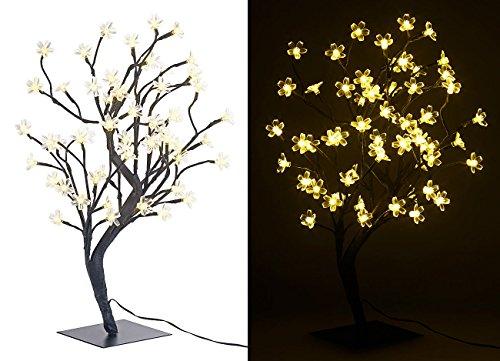 Lunartec LED Baum klein: LED-Baum mit 64 beleuchteten Blüten, 45 cm, IP44, für innen & außen (LED Lichterbaum)