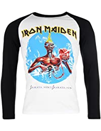 Band Tee Mens Iron Maiden Rgln T Shirt Long Sleeve Round Neck Casual Top