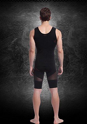 Dimagramento del Mesh Compression Gilet uomo con la camicia Cintola Nero