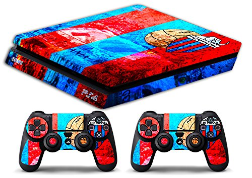 Skin Ps4 SLIM - CATANIA CALCIO ULTRAS - limited edition DECAL COVER ADESIVA Playstation 4 Slim SONY BUNDLE