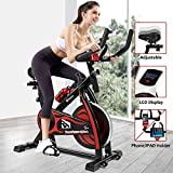 Fitnessclub Indoor Exercise Bike Cycling Spining Bike Cardio Workout W/Belt Driven Flywheel Cycling