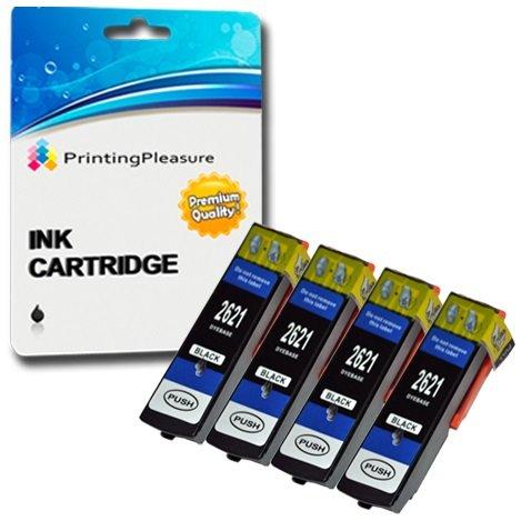 4 compatibili 26xl t2621 cartucce d'inchiostro per epson expression premium xp-510 xp-520 xp-600 xp-605 xp-610 xp-615 xp-620 xp-625 xp-700 xp-710 xp-720 xp-800 xp-810 xp-820 - nero, alta capacità