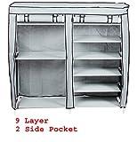 #10: Insasta Folding Shoe Rack 11 layers(Muti-color)