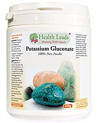 Potassium Gluconate Powder 500g (Pure Powder/100% Additive Free) from Health Leads UK