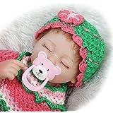 NPK suave vinilo realista Reborn bebé muñeca muñecas la vida real como 17pulgadas 43cm silicona recién nacido libre magnético chupete