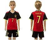 20162017Super beliebtes Belgien 7Kevin De Bruyne Home für Kinder Kid Jugend Fußball Soccer Jersey-Sets in rot XS rot