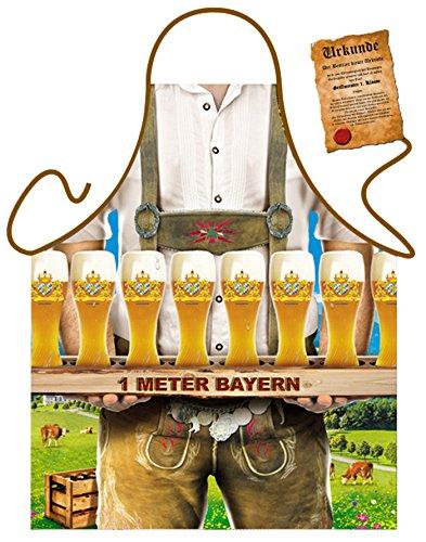 Tabliers en kit avec certificat/Fun cadeau d'anniversaire/de motif pour votre cuisine Party et bien plus encore/Grand choix de motifs, 100 % polyester, Motivschürze: 1 Meter Bayern, Taille unique