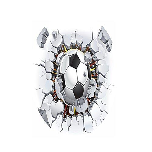 MagiDeal Autocollants De Toilette 3d Créatif Sticker De Bain Décalcomanies Décoratifs - Football