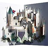 Forever - Biglietto popup, motivo: Hogwarts, tagliato al laser