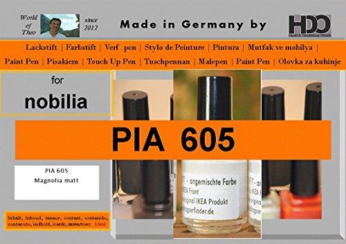 HDO Farbstift Lackstift Touch-up-Pen for Nobilia PIA 605 Magnolia Matt (Farbstifte, Deutsch)