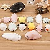 Squishy Cat Luminous Cute Mochi Squeeze Healing Fun Kids Kawaii Toy Stress Reliever Soft Toys Decor Set Gift by LMMVP (5PC)