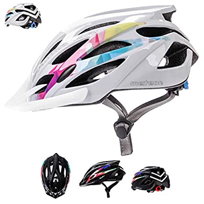 Meteor® Bike Bicycle Cycle Cycling Helmet Shimmer: Ladies Mens & Youths Helmet Bicycle Helmet Cycling–Hoverboard, InLine Skate, BMX Bike, Scooter. Developed for the safety of the tiniest User: The Helmet Circuit Certificate–89/686/EEC and has