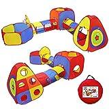 YOOBE 5pc Kids Play Tende Jungle Gym w / Tende Pop up, Tunnel e Basket Pit per Ragazzi, Ragazze, Neonati e Bambini con Custodia per Uso Interno ed Esterno