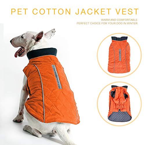 Wooce Ropa para Perros Chaqueta de Mascota Cómoda Ropa de Invierno Adecuado...