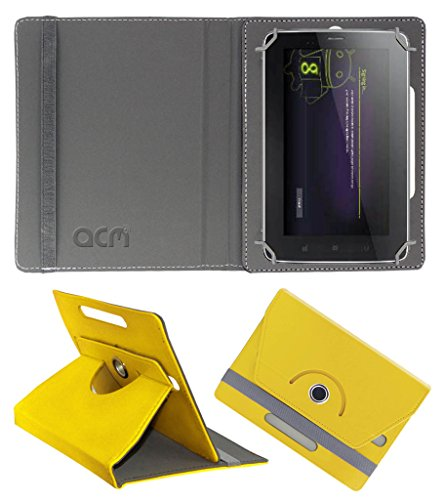 Acm Rotating 360° Leather Flip Case for Karbonn Ta-Fone A34 Cover Stand Yellow  available at amazon for Rs.149