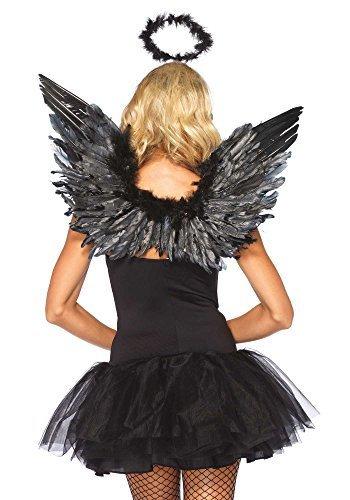 Leg Avenue Black Feather Angel Wings & Halo Kit - 2065 by Leg Avenue (Black Angel Kostüm Kit)
