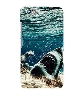 EPICCASE King Shark Mobile Back Case Cover For Micromax Canvas Fire 4 A107 (Designer Case)