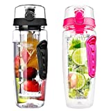 Wasserflasche für Fruchtschorlen 2 Stück Sports Trinkflasche 1Liter - Best Reviews Guide