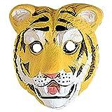 Kinder Tiger Maske Wildkatze Tiermaske Kindermaske Hartplastik Tigermaske Raubkatze Faschingsmaske Katze Karnevalsmaske Zoo Kostüm Zubehör