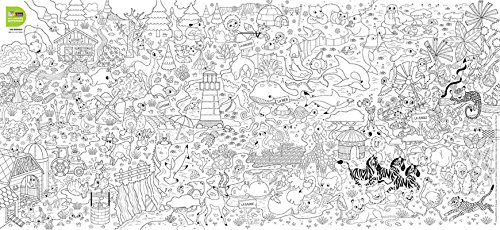 Poster à colorier - Les animaux du monde