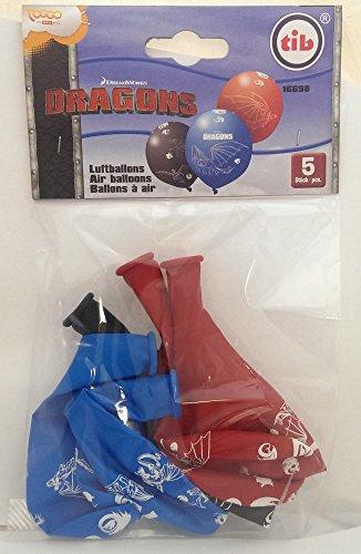 Preisvergleich Produktbild 5 Luftballons mit Drachenzähmen leicht gemacht Motiv