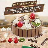 Kinder Ausschnitt Frucht Kuchen Slices Beläge Küche Spielen Essen Spielzeug, Magnetisches hölzernes Kuchen Kinderküche Lebensmittel Spielzeug Kaufladen, Baby Spielzeug By Upxiang (Kuchen)