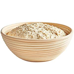 Andrew James Natural Rattan Banneton Dough Proving Basket, 1 Kg Capacity