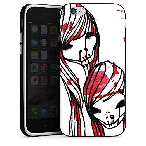 Apple iPhone X Silikon Hülle Case Schutzhülle DeadHoxtonGirls Gloria blutig Silikon Case schwarz / weiß