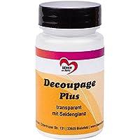 Decoupage Plus, transparente con brillo seda, 90ml, Líquido Adhesivo y barniz en un | especial para tejidos, papel de arroz de papeles y, DIY, artesanía, de | a base de agua