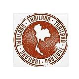 DIYthinker Cultura tailandese Amo Thailandia Mappa Anti-Slip Piano Pet tappetino quadrato Bagno Soggiorno Cucina Porta 60 / 50cm regalo 50x50cm
