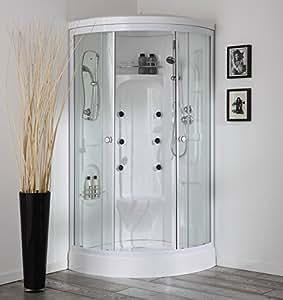 vesuvio 90x90 multifunktionelle duschkabine mit sauna k che haushalt. Black Bedroom Furniture Sets. Home Design Ideas