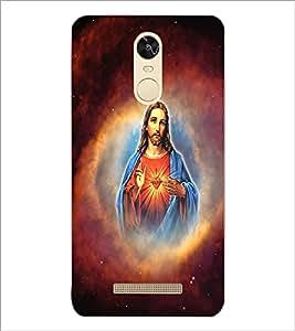 PrintDhaba Lord Jesus D-3751 Back Case Cover for XIAOMI REDMI NOTE 3 PRO (Multi-Coloured)