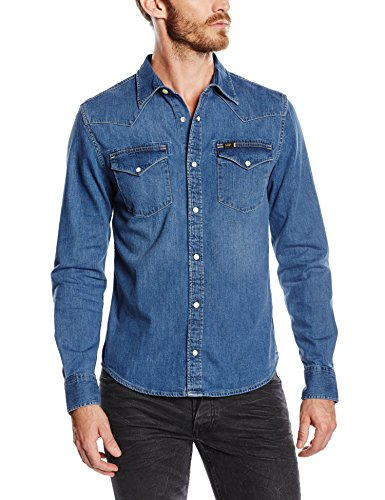 Lee - Lee Western Shirt Blue Stance, Camicia da uomo, stance (stance), S