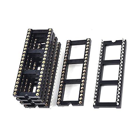Pins Steckdose - TOOGOO(R)6 x 2.54 mm Rastermass 40 Runde Stifte zweireihig DIP IC Sockel Adapter (Runde Dip)