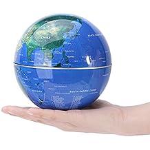 """6 """" Globo terráqueo , Globo Rotación mundo mapa esfera de Navidad, San Valentín uso de regalo para el hogar y la oficina decorar"""