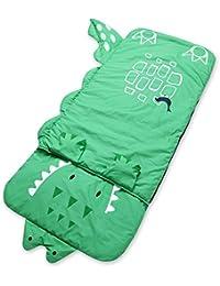 HuntGold style animal enfants oreiller sac de couchage de 140cm*60cm 140cm*60cm(crocodile vert)