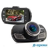 EPOW DAB201 Dashcam GPS Camera embarquée voiture [ORIGINALE - Marque Française - Garantie 1an] Enregistreur de conduite de type boite noire Ambarella A12 FULL HD 2K & 1080p