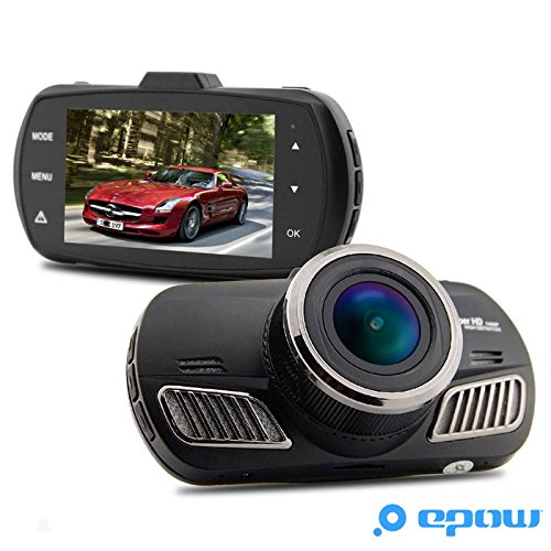 epow® dab201 Car Camera Dashcam Black Box [French dascham Type – 1 Year Warranty] Driving Recorder Ambarella Full HD 2 K A12
