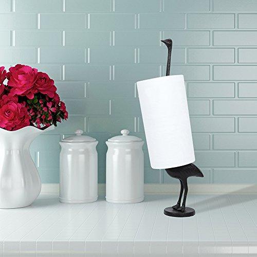 Antike Strauß (cinoton Eisen Papier Handtuchhalter 41cm Metall WC-Papier Ständer Küche Rolle Spender (Strauß))