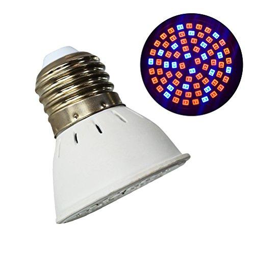 frcolor E276W 72LEDs Lámpara planta crecimiento bombilla crecimiento interior jardín luz LED lámpara para plantas de interior hidropónico