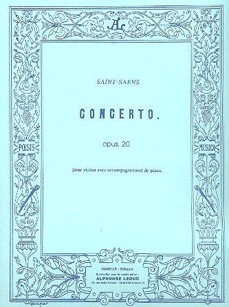 Concerto pour violon et orchestre Opus 20