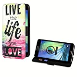 deinPhone Samsung Galaxy J3 (2017) Kunstleder Flip Case Live The Life You Love